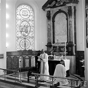 Bishop C.K. Jacob presiding the Church of South India Inaugural Service