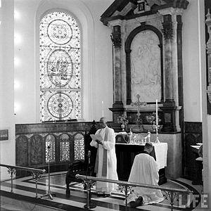 Bishop C.K. Jacob presiding the Church of South India Inaugural Service